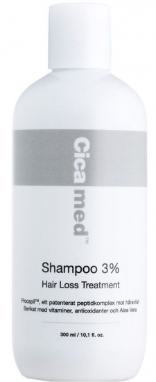 Cicamed Hair Loss Treatment Shampoo 3% - utan parabener.