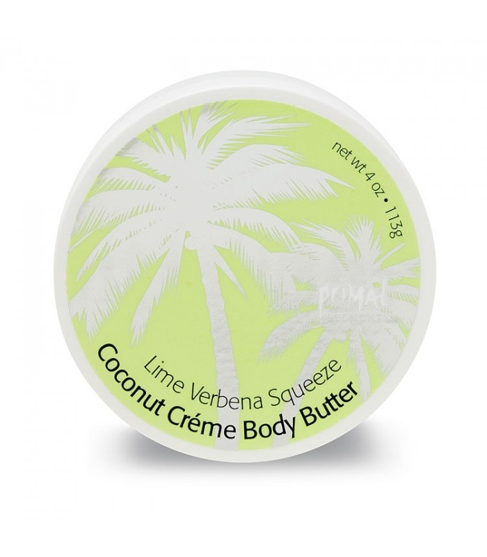 Primal Elements Coconut Creme Body Butter Lime Verbena Squeeze 300ml - utan parabener.