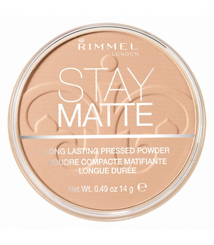 Rimmel Stay Matte Pressed Powder 003 Peach Glow 14g - utan parabener.