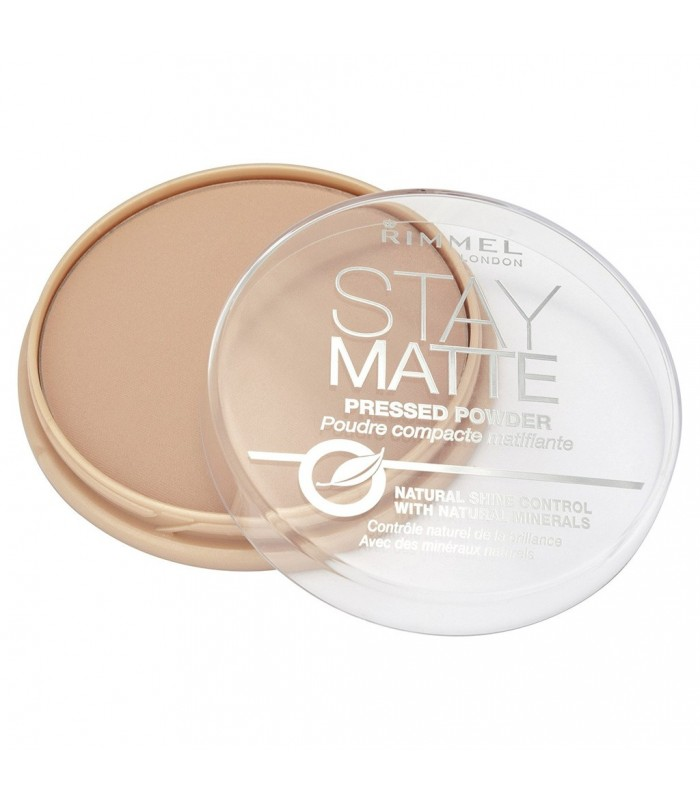 Rimmel Stay Matte Pressed Powder 006 Warm Beige 14g - utan parabener.