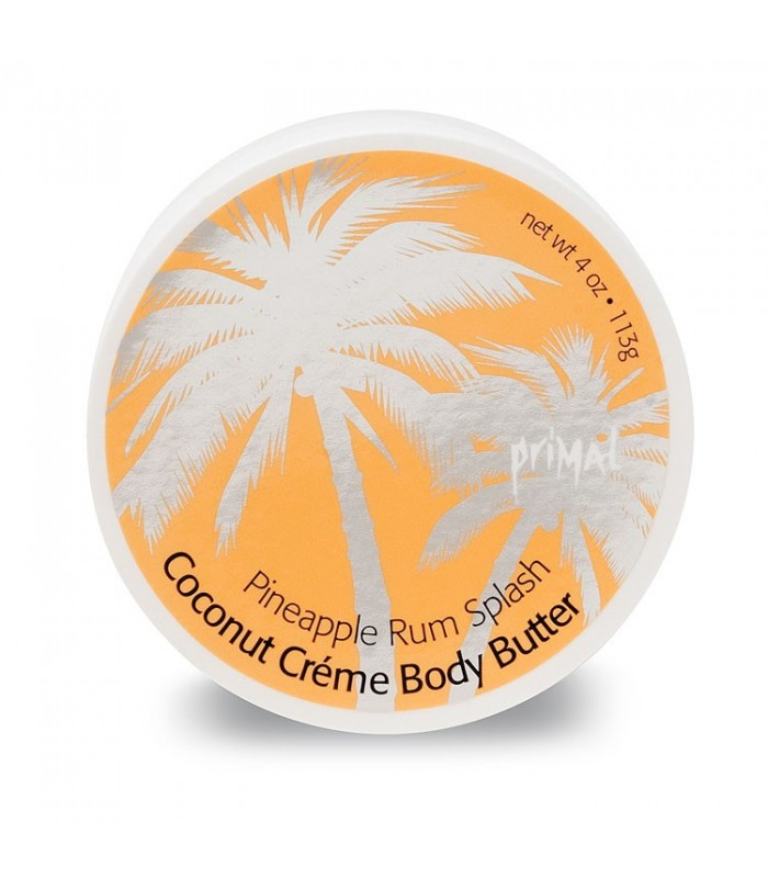 Primal Elements Coconut Creme Body Butter Pineapple Rum Splash 300ml - utan parabener.