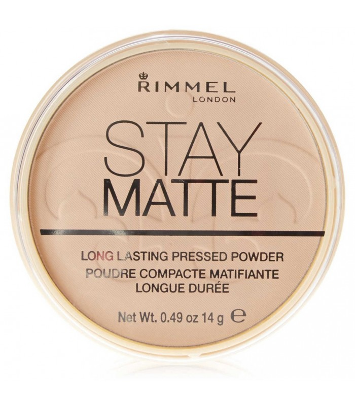 Rimmel Stay Matte Pressed Powder 001 Transparent 14g - utan parabener.