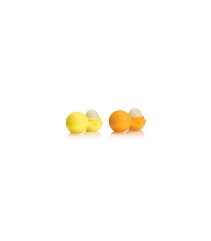 2-pack EOS Lip Balm Medicated Tangerine & Lemon Drop - utan parabener.