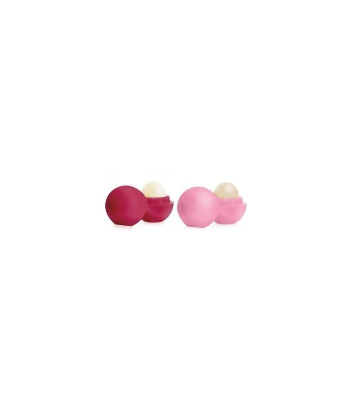 2-pack EOS Lip Balm Strawberry Sorbet & Pomegranate Raspberry - utan parabener.
