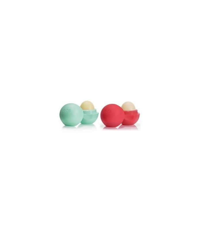 2-pack EOS Lip Balm Sweet Mint & Summer Fruit - utan parabener.