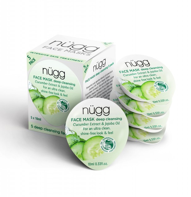 Nügg Deep Cleansing Face Mask 5-pack - utan parabener.
