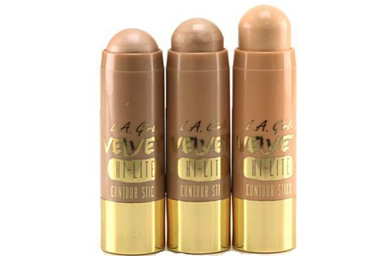 LA Girl Velvet Contour Highlighter Stick - utan parabener.