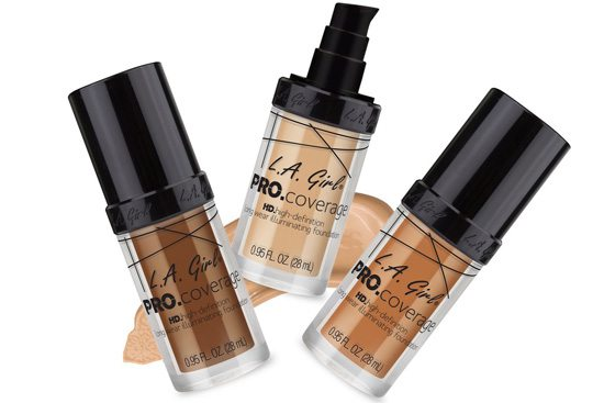 LA GIRL PRO Coverage HD Foundation - utan parabener.
